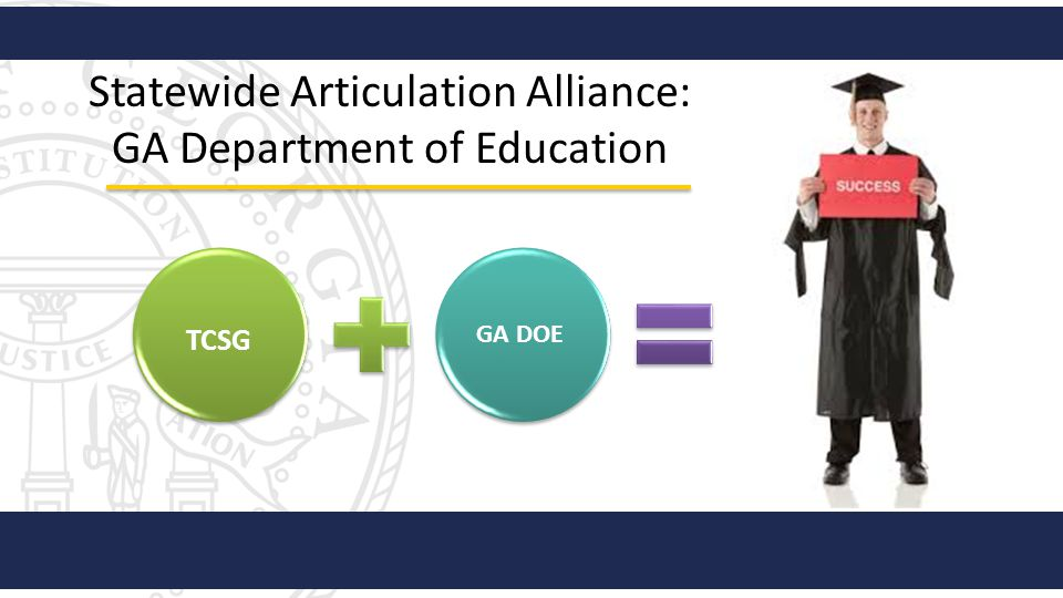 Statewide Articulation Alliance: GA Department of Education