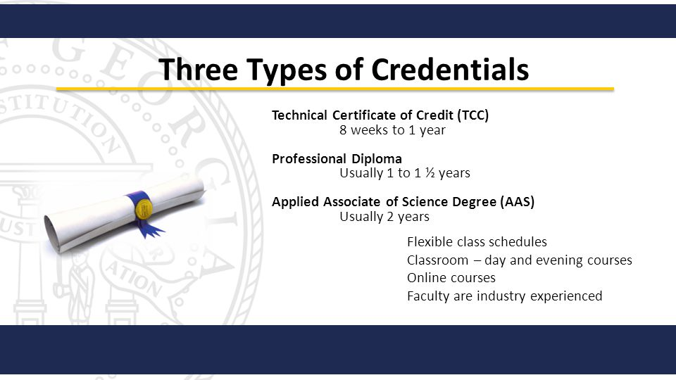 Three Types of Credentials