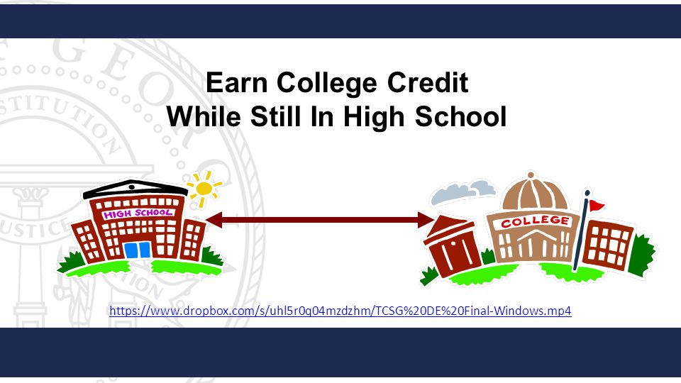 Earn College Credit While Still In High School