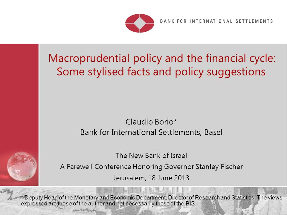 01.04.2017 Macroprudential policy and the financial cycle: Some stylised facts and policy suggestions.