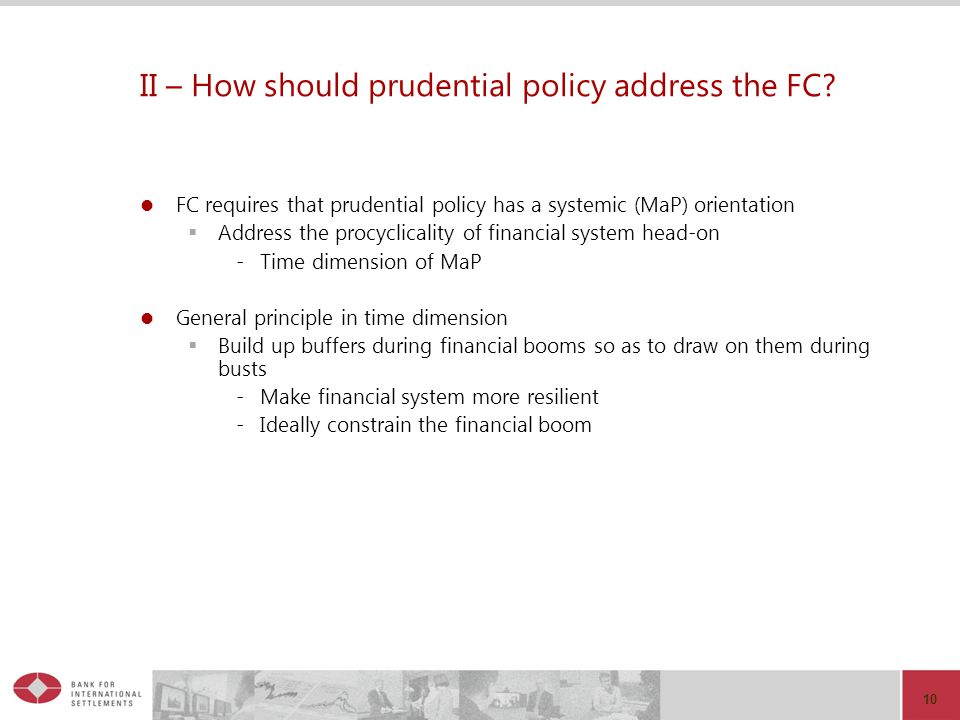II – How should prudential policy address the FC