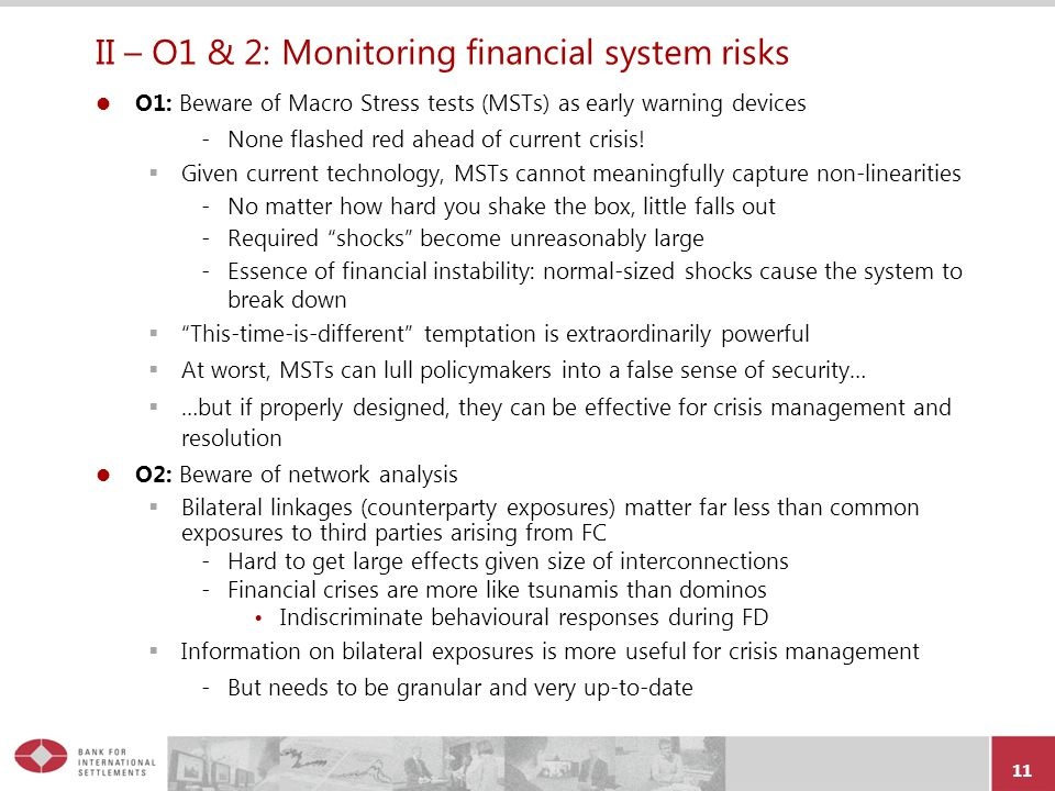 II – O1 & 2: Monitoring financial system risks