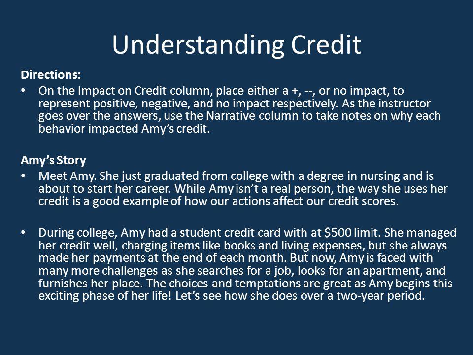 Understanding Credit Directions: