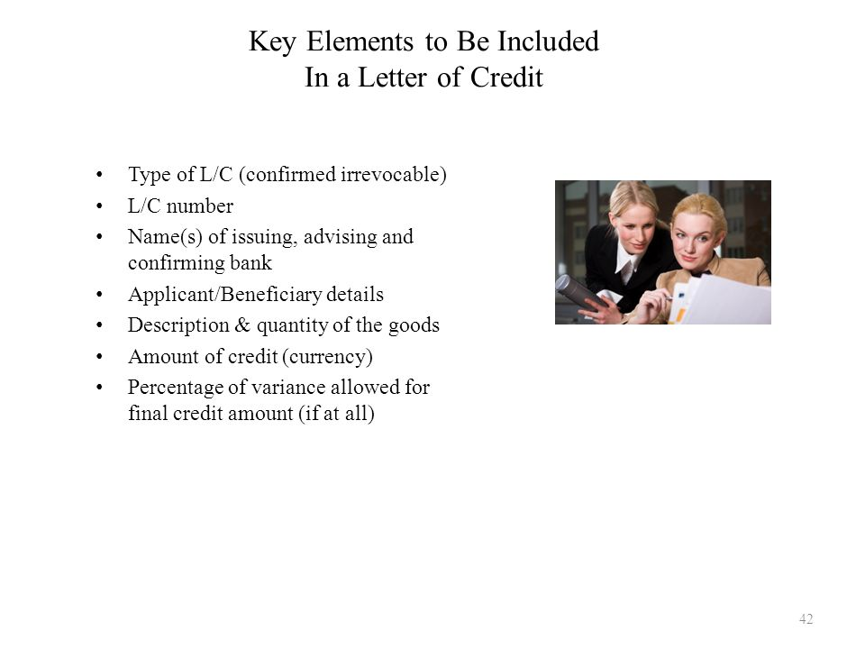 Key Elements to Be Included In a Letter of Credit
