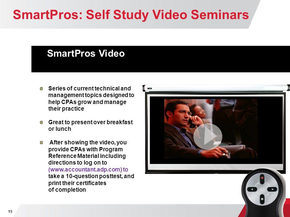 SmartPros: Self Study Video Seminars