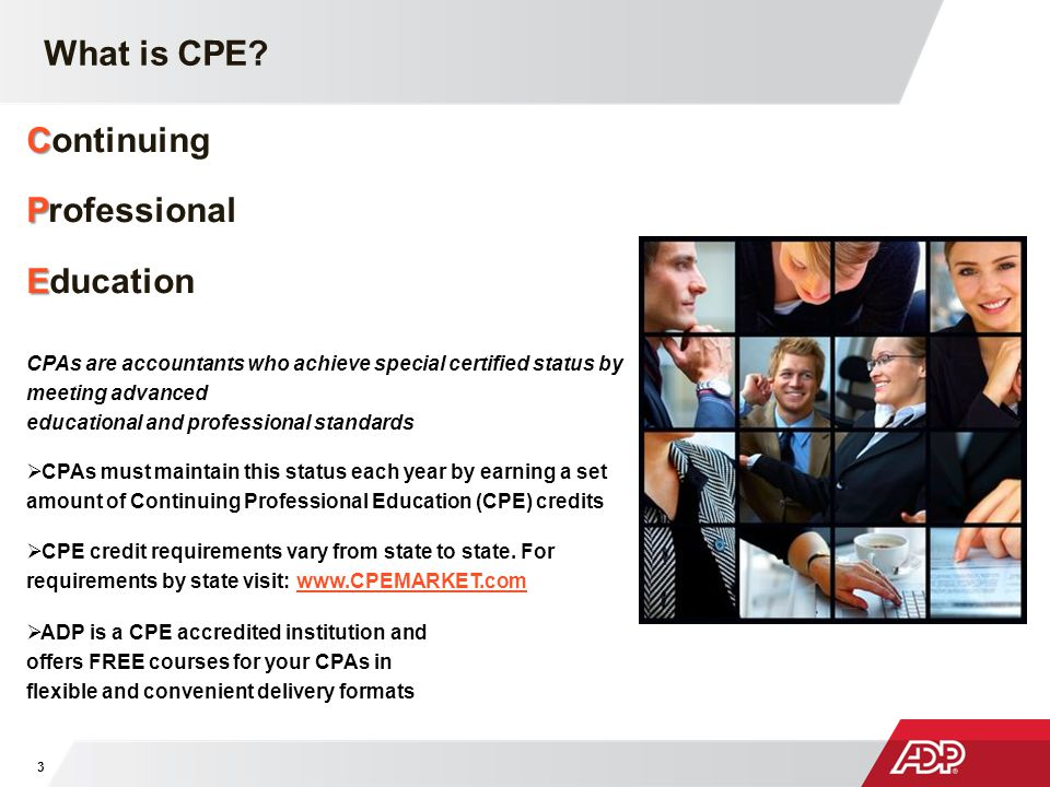 What is CPE Continuing Professional Education