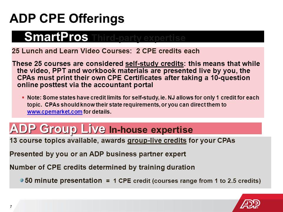 SmartPros Third-party expertise