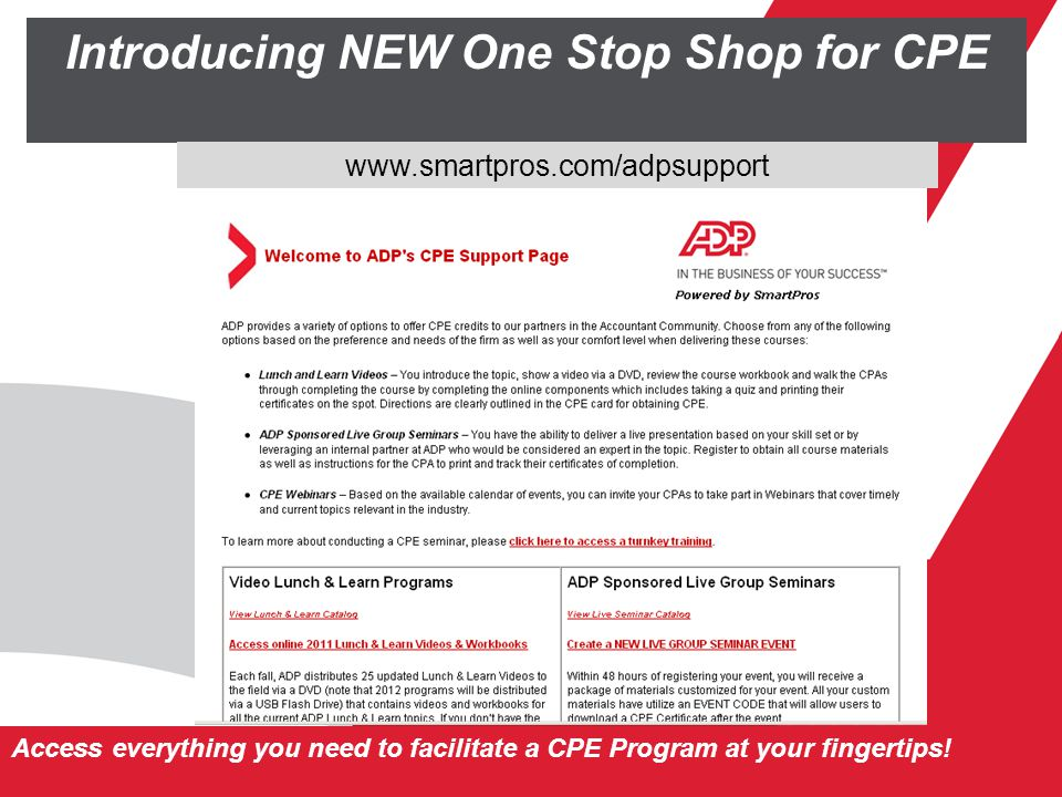 Introducing NEW One Stop Shop for CPE