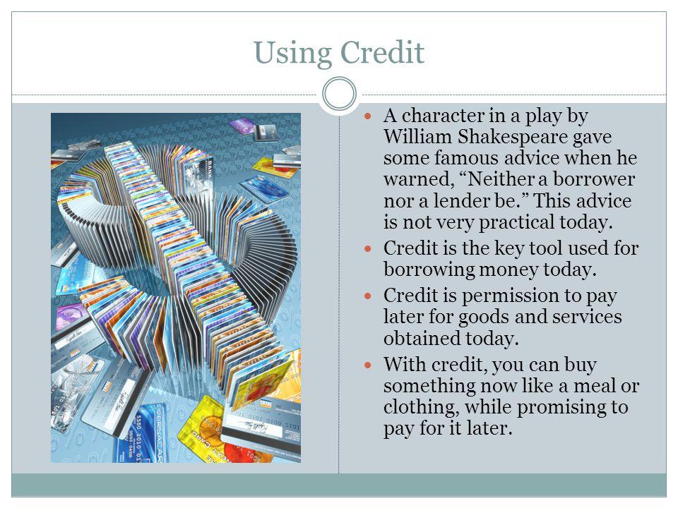 Using Credit