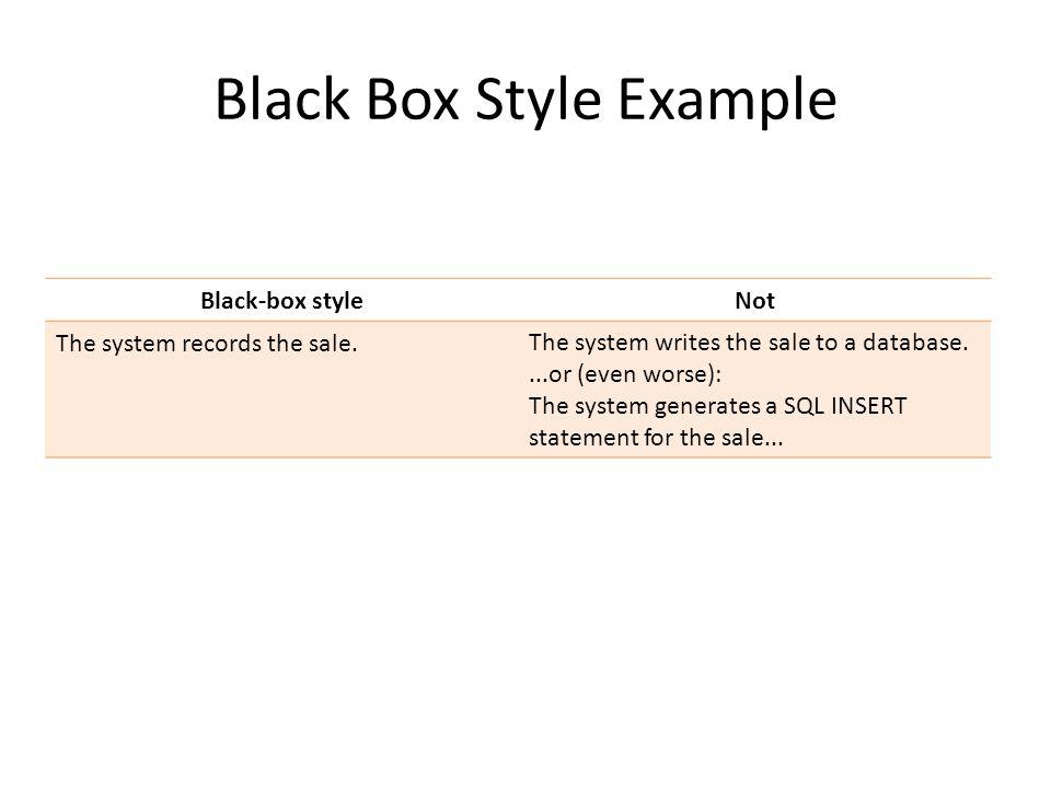 Black Box Style Example