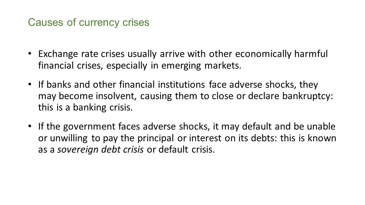Causes of currency crises
