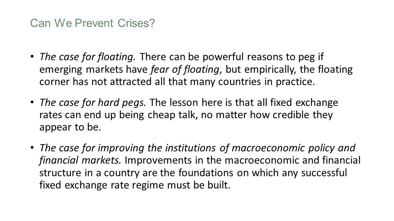 Can We Prevent Crises