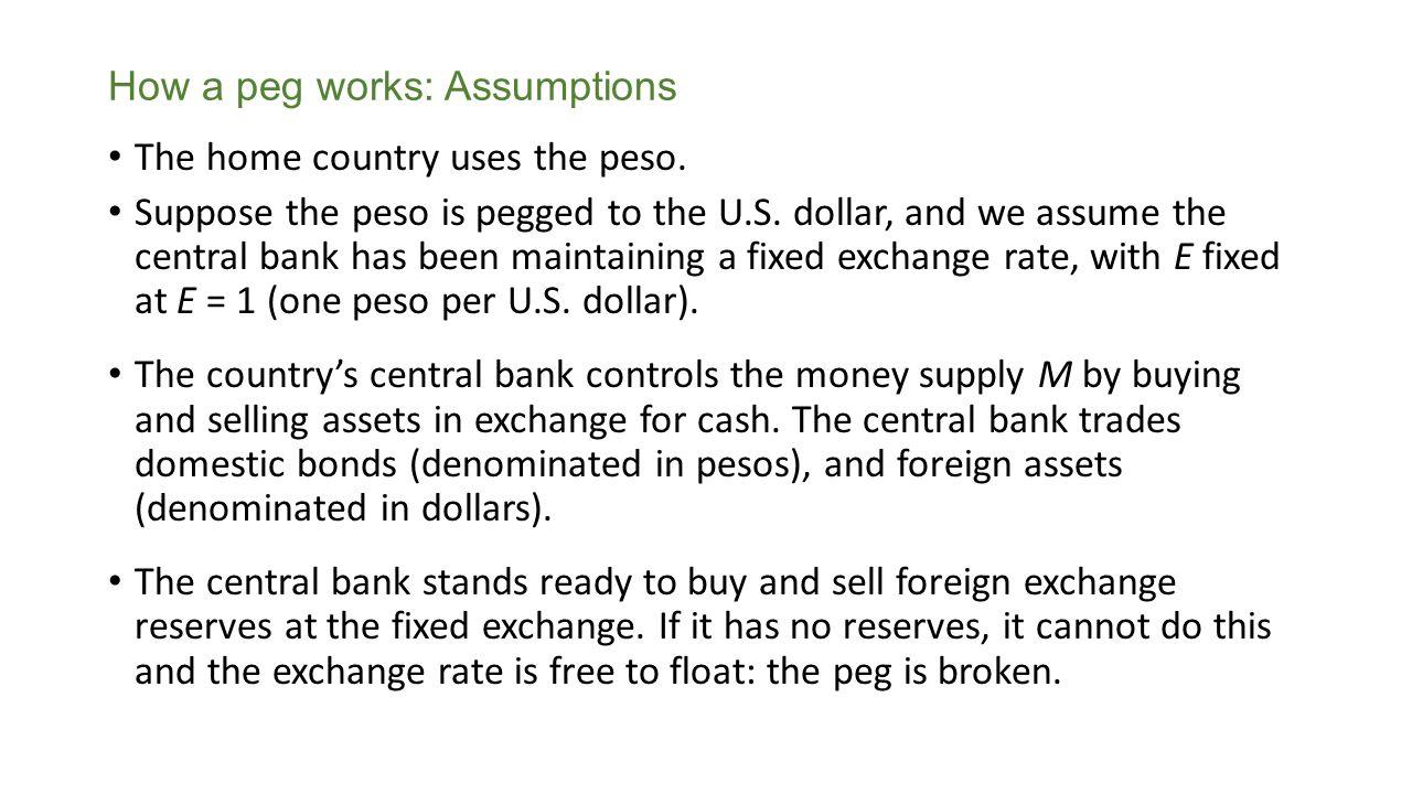 How a peg works: Assumptions