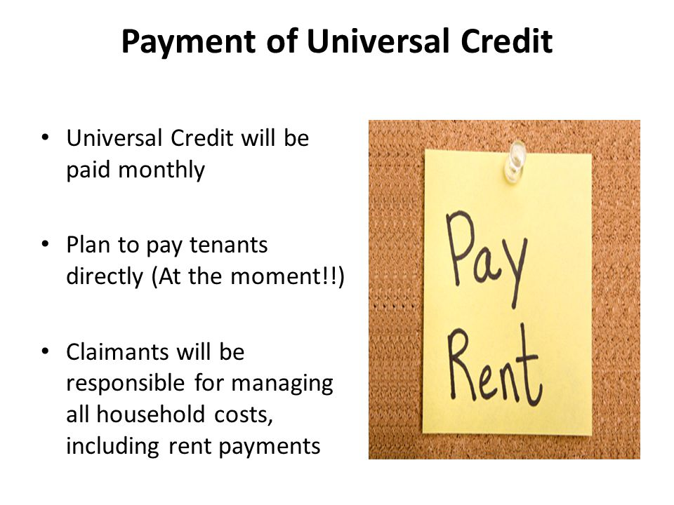 Payment of Universal Credit