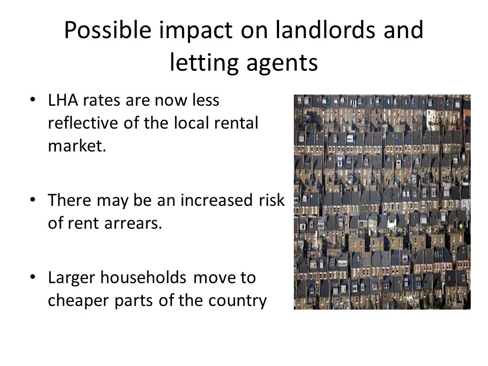 Possible impact on landlords and letting agents