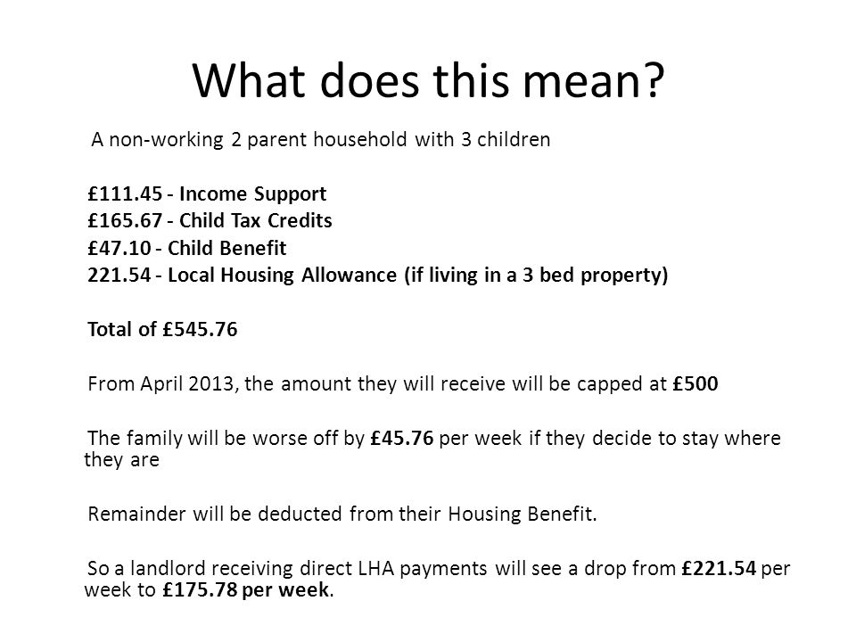 What does this mean £111.45 - Income Support