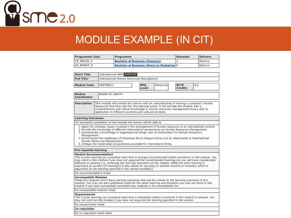 Module example (In CIT)