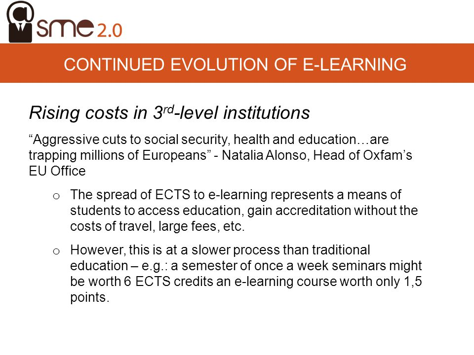 CONTINUED EVOLUTION OF E-LEARNING