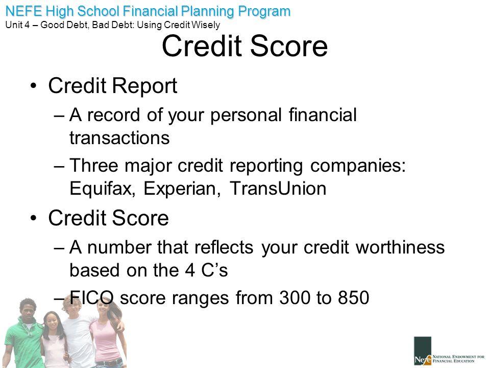 Credit Score Credit Report Credit Score