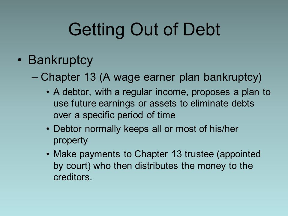 Getting Out of Debt Bankruptcy