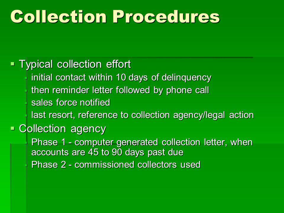 Collection Procedures