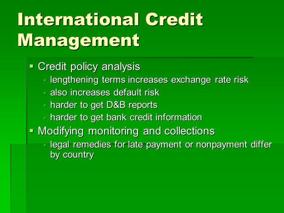 International Credit Management