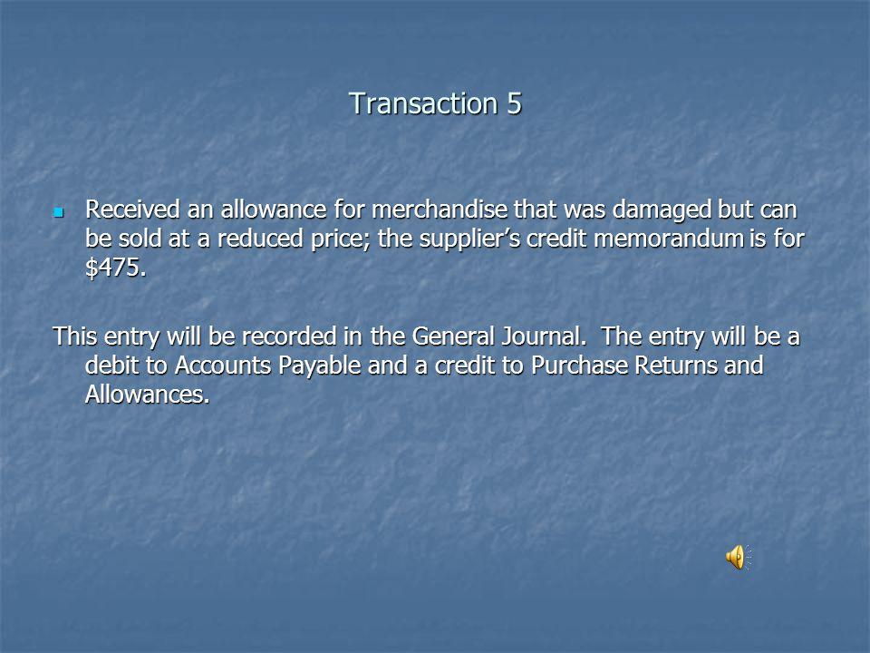 Transaction 5