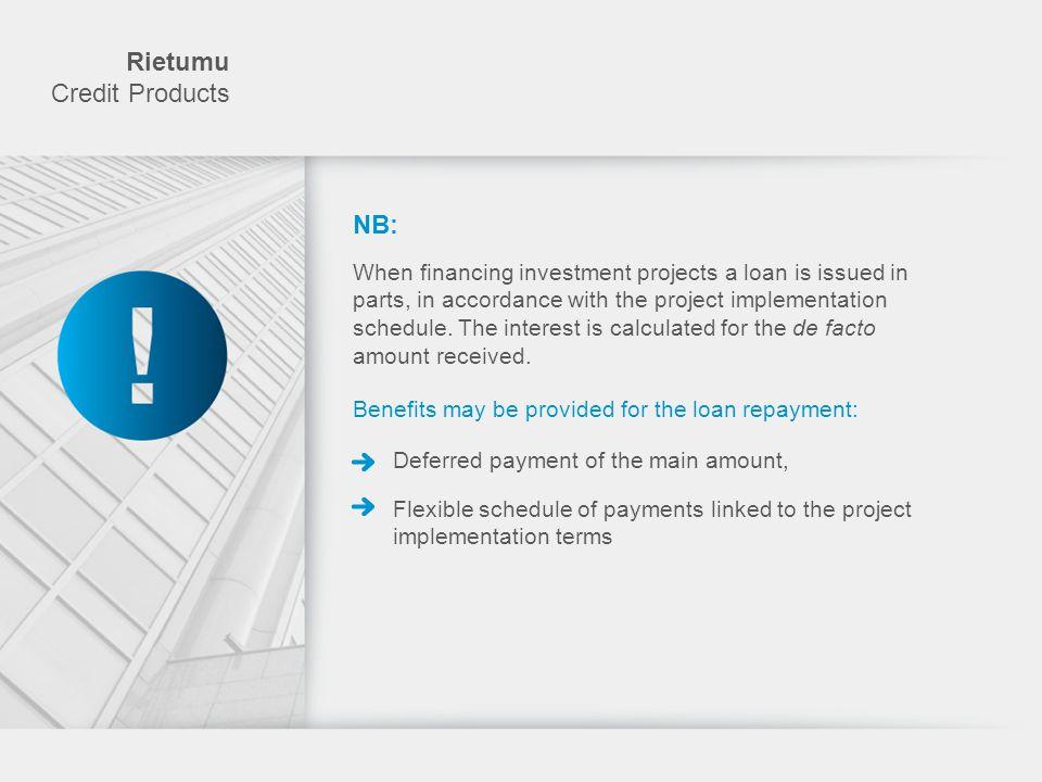 Rietumu Credit Products NB: