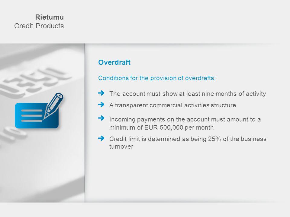 Rietumu Credit Products Overdraft