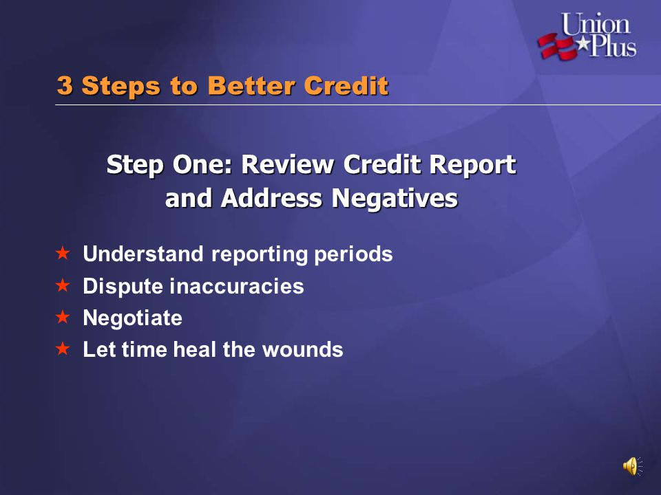 Step One: Review Credit Report
