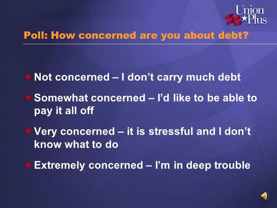 Poll: How concerned are you about debt