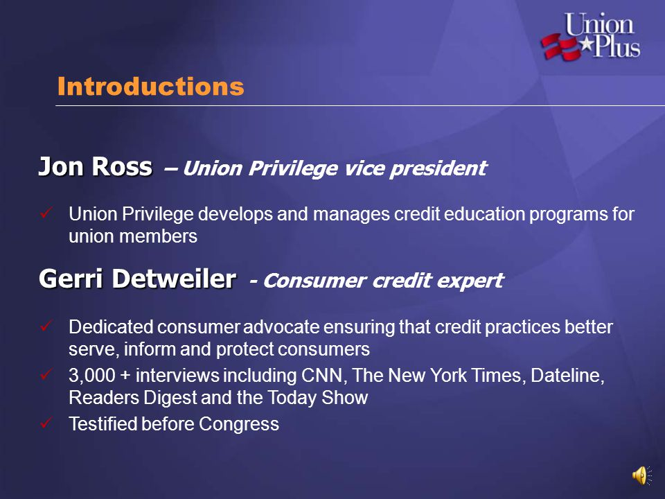 Jon Ross – Union Privilege vice president