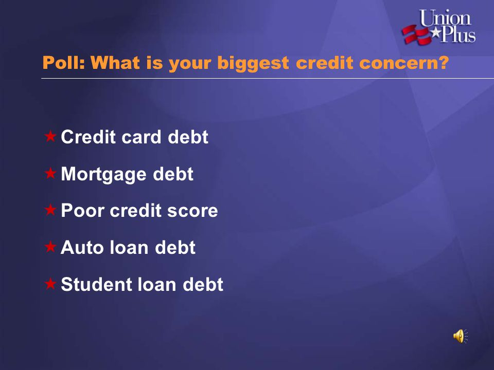 Poll: What is your biggest credit concern
