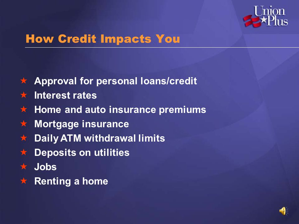 How Credit Impacts You Approval for personal loans/credit
