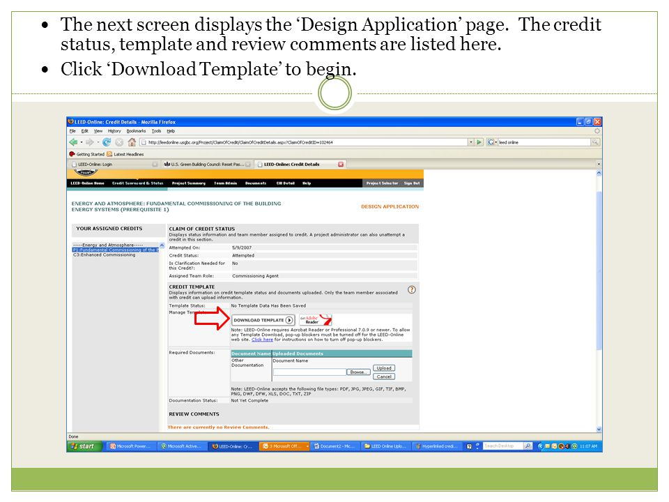 The next screen displays the 'Design Application' page