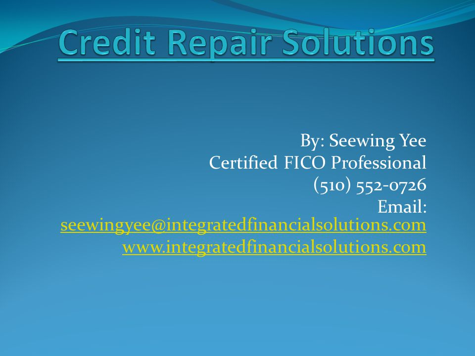 Credit Repair Solutions