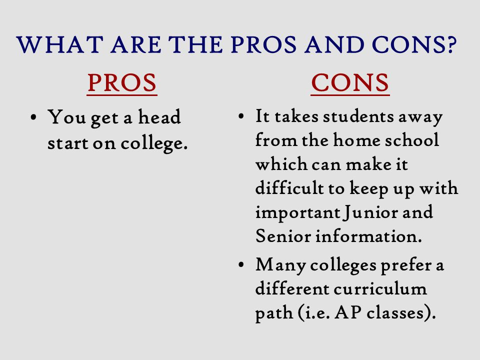 WHAT ARE THE PROS AND CONS