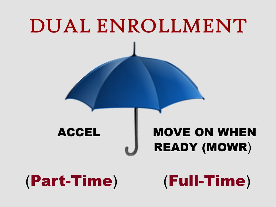 DUAL ENROLLMENT (Part-Time) (Full-Time)
