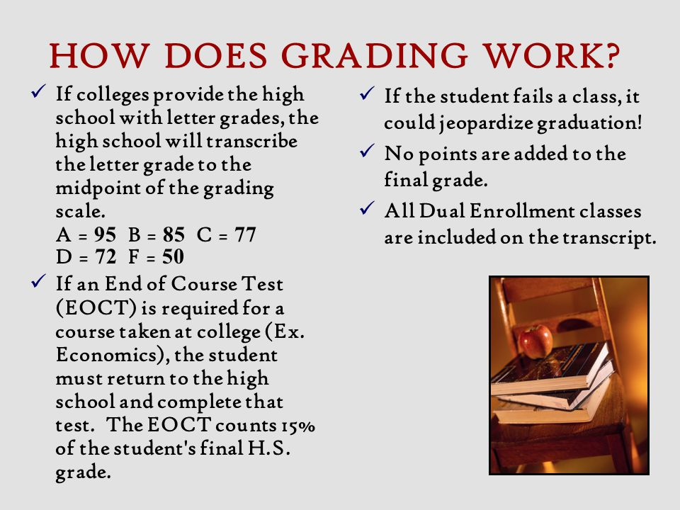 HOW DOES GRADING WORK