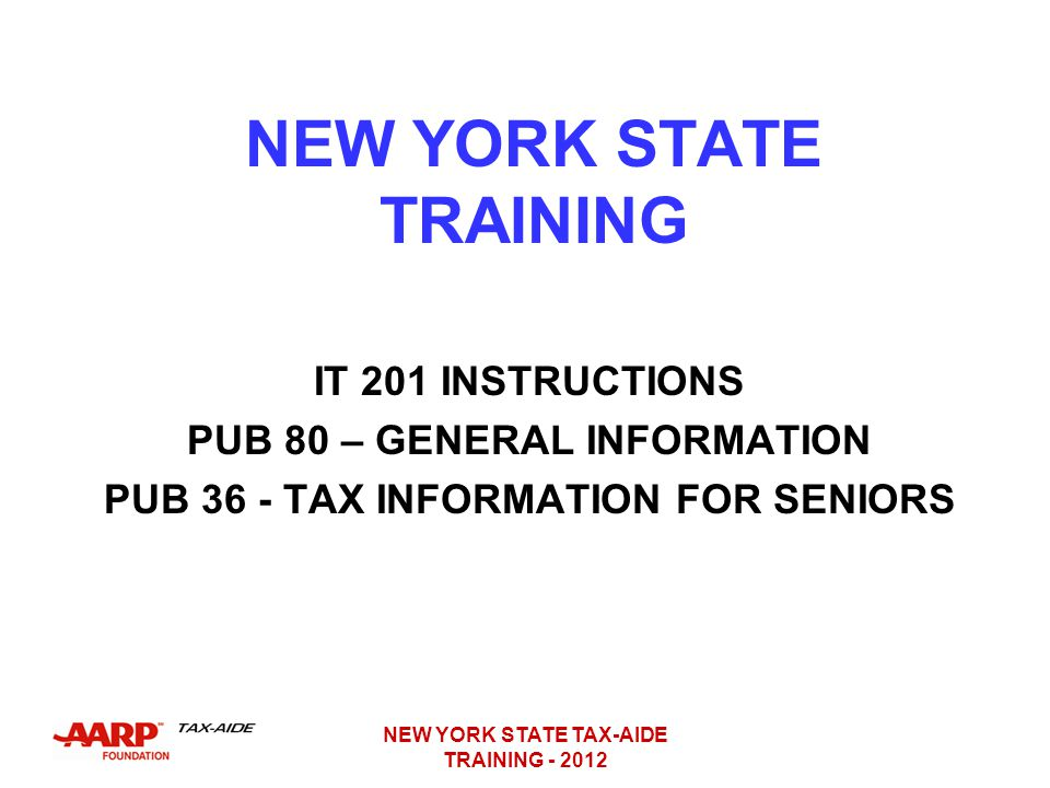 NEW YORK STATE TRAINING
