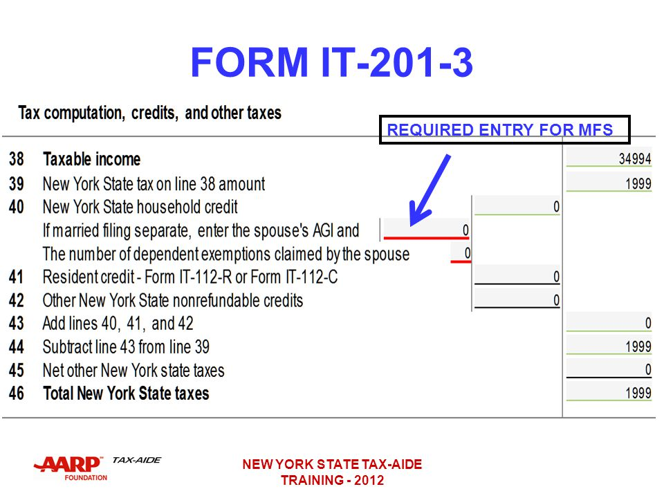 New York State It 201 Instructions