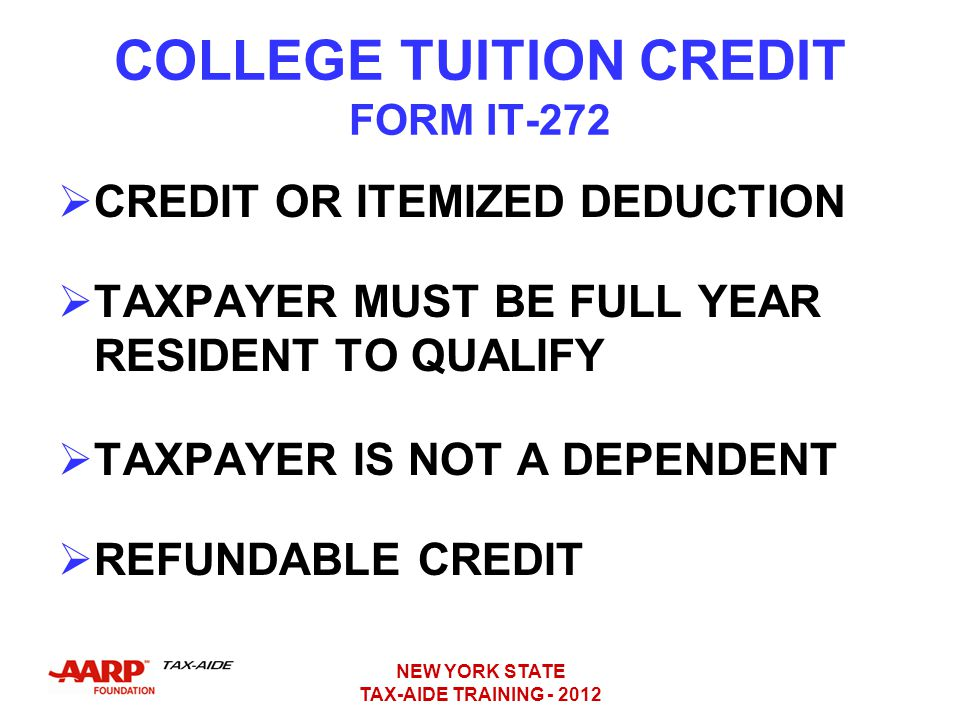 COLLEGE TUITION CREDIT FORM IT-272