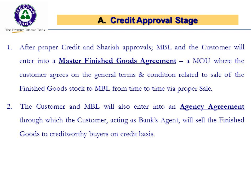 Credit Approval Stage