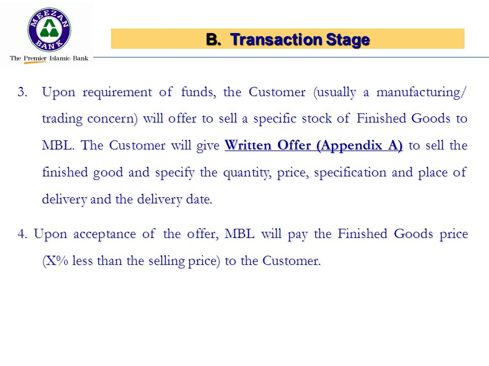 Transaction Stage
