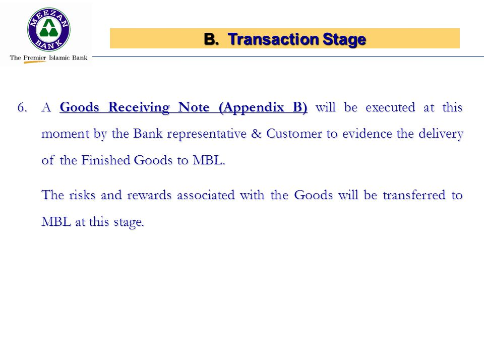 Transaction Stage