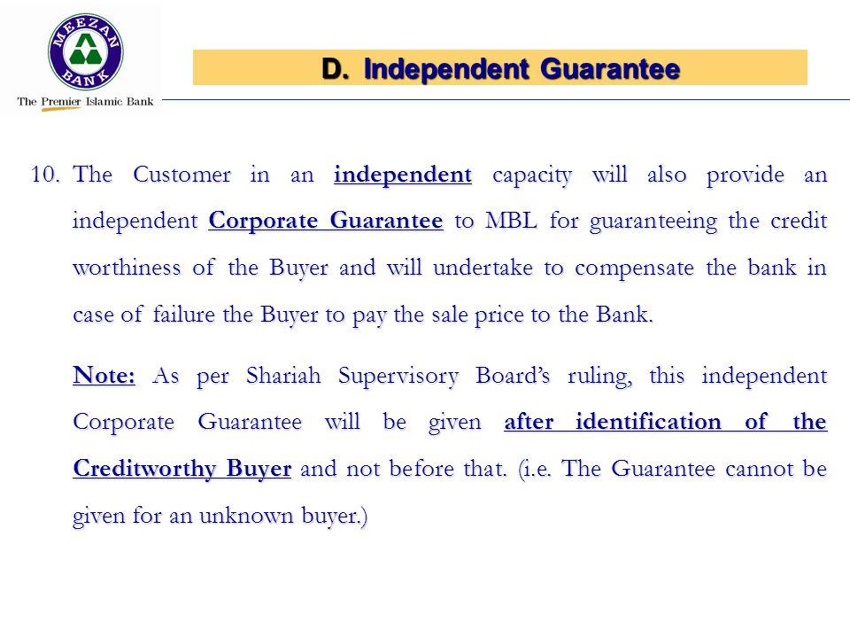 Independent Guarantee