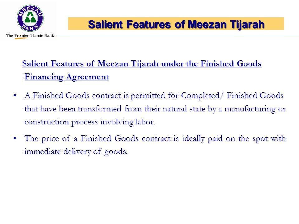 Salient Features of Meezan Tijarah