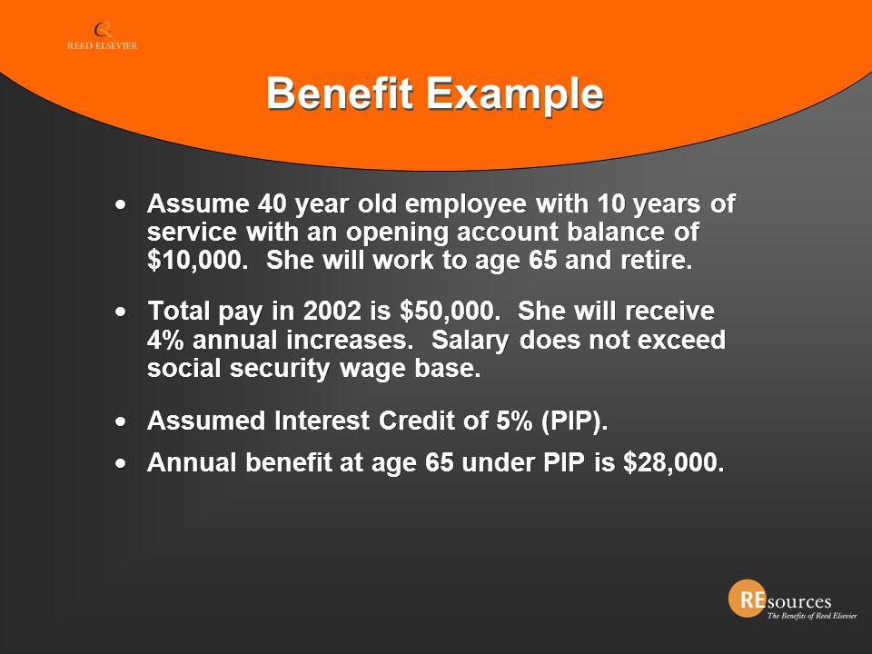 Benefit Example