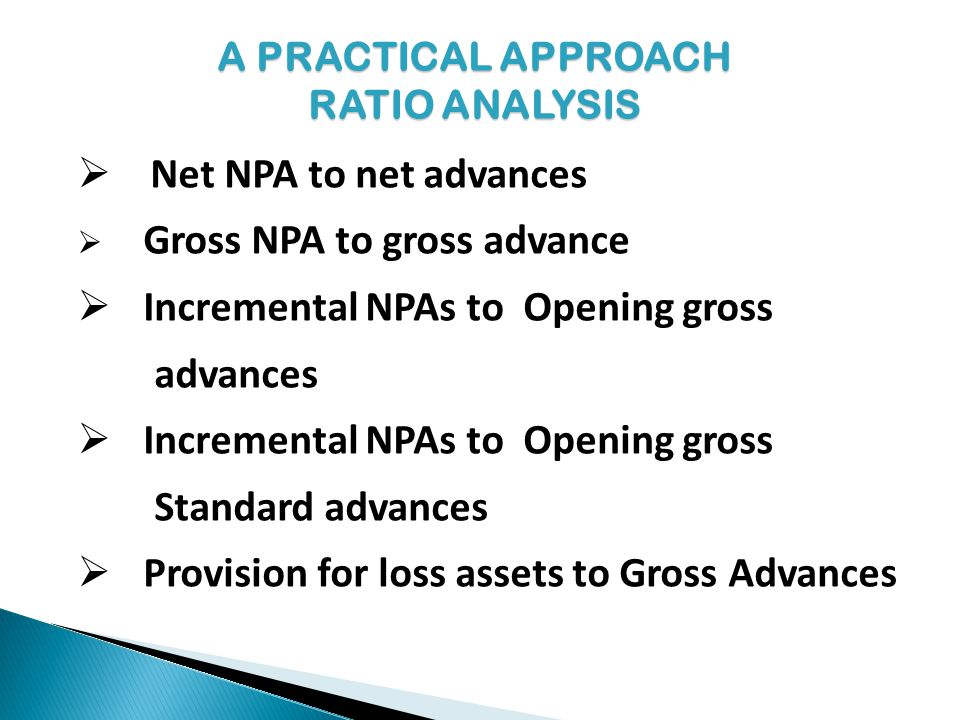 Incremental NPAs to Opening gross advances
