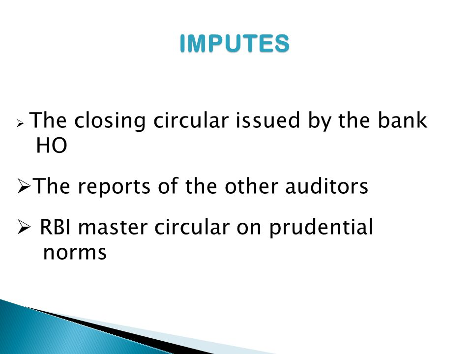 IMPUTES HO The reports of the other auditors
